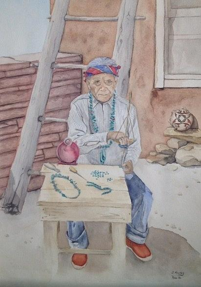 Jona Lou Batt - Zuni Jewelry Maker