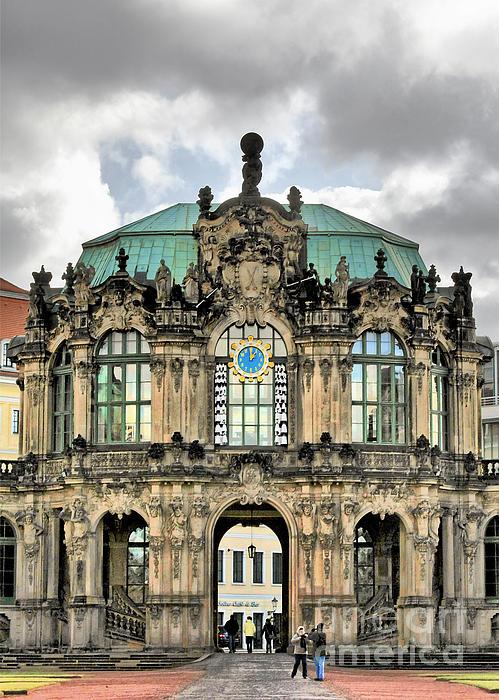 Zwinger Dresden - Carillon Pavilion - Caution Fragile Print by Christine Till