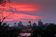 4th Of July Sunset Providence Ri Print by Butch Lombardi