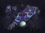062 - Demons B Print by Irmgard Schoendorf Welch