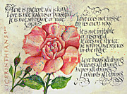 Religious Art Drawings Prints -  1 Corinthians 13 Print by Dave Wood