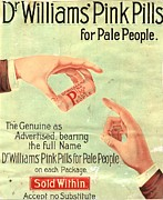 Advertisements Prints -  1890s Uk Dr Williams Pin Pills Medical Print by The Advertising Archives