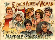 Vintage Prints -  1890s Uk Maypole Ageing The Seven Ages Print by The Advertising Archives