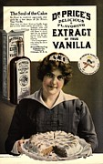 Featured Metal Prints -  1900s Usa Cooking Dr PriceÕs Vanilla Metal Print by The Advertising Archives