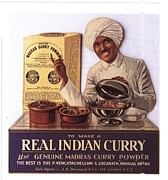 Nineteen-tens Drawings -  1910s Uk Indian Food Curry Warning - by The Advertising Archives