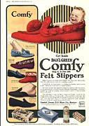 Nineteen-tens Art -  1910s Usa Slippers Shoes Comfy Green by The Advertising Archives