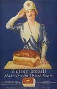 Featured Metal Prints -  1910s Usa Victory Bakers Flour Baking Metal Print by The Advertising Archives