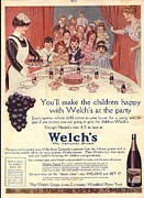 Nineteen-tens Posters -  1910s Usa Welchs Juice ChildrenÕs Poster by The Advertising Archives