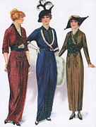 Nineteen-tens Art -  1910s Usa Womens Hats Dresses by The Advertising Archives