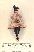 Nineteen-tens Posters -  1915 1910s Usa Onyx Silk Stockings Poster by The Advertising Archives