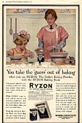 Nineteen Tens Framed Prints -  1917 1910s Usa Cooking Ryzon Baking Framed Print by The Advertising Archives