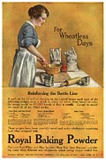 Nineteen Tens Framed Prints -  1918 1910s Usa Cooking Royal Baking Framed Print by The Advertising Archives