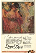 Nineteen Tens Drawings -  1918 1910s Usa Djer-kiss Talcum by The Advertising Archives