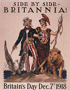 Featured Posters -  1918 1910s Usa Uncle Sam Ww1  Lions Poster by The Advertising Archives
