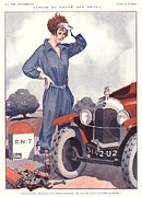 Nineteen-twenties Posters -  1920s France La Vie Parisienne Poster by The Advertising Archives