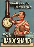 Featured Metal Prints -  1920s Uk Dandy Shandy Sarsaparilla Metal Print by The Advertising Archives