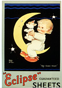 Featured Art -  1920s Uk Sleep Eclipse Beds Sheets by The Advertising Archives