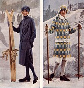 WomenÕs Art -  1920s Uk Womens Skiing Skis Ski Wear by The Advertising Archives