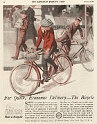 Cycling Drawings Framed Prints -  1920s Usa  Bicycles Bikes Cycling Framed Print by The Advertising Archives