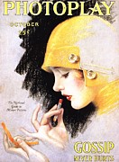 Nineteen Twenties Art -  1920s Usa Photoplay Lipsticks Putting by The Advertising Archives
