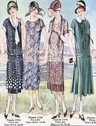 Clothes Clothing Art -  1920s Usa Womens Mail Order Catalogues by The Advertising Archives
