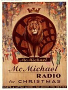 Featured Acrylic Prints -  1930s Uk Mcmichael Radios Lions Acrylic Print by The Advertising Archives