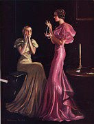 Featured Metal Prints -  1930s Uk Womens Evening Gowns Dresses Metal Print by The Advertising Archives