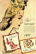 Nineteen Thirties Drawings Posters -  1933 1930s Usa Coty Make-up Makeup Poster by The Advertising Archives