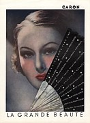 Thirties Drawings Posters -  1936 1930s Usa Caron Le Grande Beaute Poster by The Advertising Archives