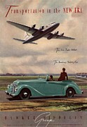 Featured Art -  1940s Uk Aviation Hawker Siddeley Cars by The Advertising Archives