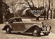 Nineteen-forties Framed Prints -  1940s Uk Bentley Sports Cars Framed Print by The Advertising Archives