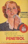 Featured Metal Prints -  1940s Uk Coughs Sneezes Sneezing Colds Metal Print by The Advertising Archives