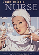 Ww2 Drawings Posters -  1940s Uk Nurses Recruitment World War Poster by The Advertising Archives