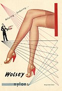 1940Õs Prints -  1940s Uk Wolsey Womens Hosiery Print by The Advertising Archives