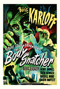 Featured Mixed Media Prints -  1945 The Body Snatchers Vintage Movie Art Print by Presented By American Classic Art