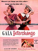 Nineteen Fifties Art -  1950s Uk Gala Of London Lipsticks by The Advertising Archives