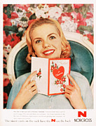 With Love Framed Prints -  1950s Usa Cards Valentines Day Love Framed Print by The Advertising Archives