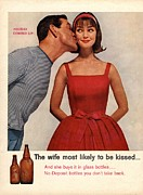 Vintage Posters -  1950s Usa Kissing Sexism Poster by The Advertising Archives