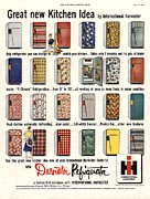 Featured Acrylic Prints -  1953 1950s Usa Fridges International Acrylic Print by The Advertising Archives