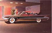 1960 Desoto Classic Styling Design Concept Rendering Sketch Print by John Samsen