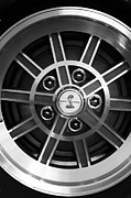 Fastback Prints -  1968 Shelby Gt500 Kr Fastback Wheel Emblem Print by Jill Reger