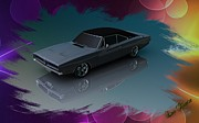 Louis Ferreira Art Digital Art -  1969 Dodge Charger by Louis Ferreira