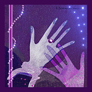 Pearls Digital Art -   539 - Hands by Irmgard Schoendorf Welch