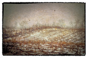 Farming Digital Art -  A Cold Field by Kimberleigh Ladd