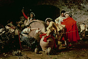 Wine Barrel Paintings -  A Good Vintage by Francesco  Vinea