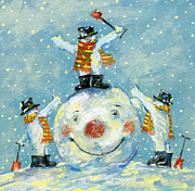 Winter Fun Paintings -  A job well done  by David Cooke