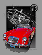 Auto Digital Art Posters -  A Mighty Good MGA Poster by Roger Beltz