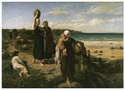 The Ocean Paintings -  A Spring by the Sea by Jules Breton