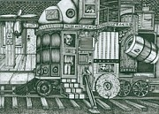 Richie Montgomery Drawings -   A Traveling Cabinet of Curiosities by Richie Montgomery
