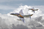 Classic Aircraft Digital Art -  A4 - Skyhawks by Pat Speirs
